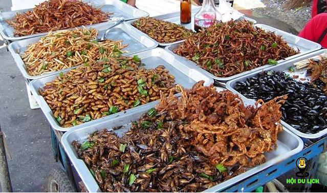 Các loại côn trùng khô ở Campuchia (ảnh sưu tầm)