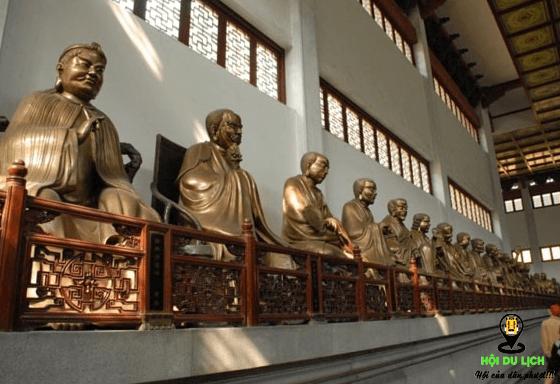 Chùa Linh Ẩn nơi thờ nhiều tượng La Hán bằng đồng (ảnh sưu tầm)