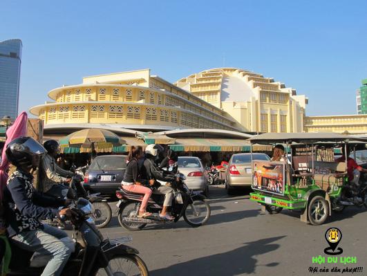 Chợ trung tâm ở Phnompenh( ảnh sưu tầm)
