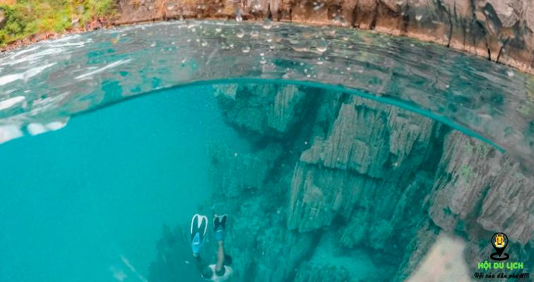 Hồ Kayangan xinh đẹp, nước trong xanh tận đáy- ảnh sưu tầm