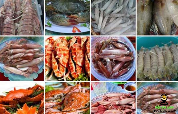 Hải sản chợ Đầm Nha Trang vô cùng phong phú (ảnh sưu tầm)