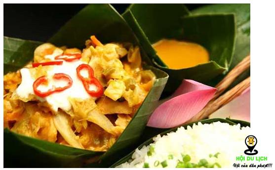 Món gà Amok ngon khó quên ở Campuchia (ảnh sưu tầm)