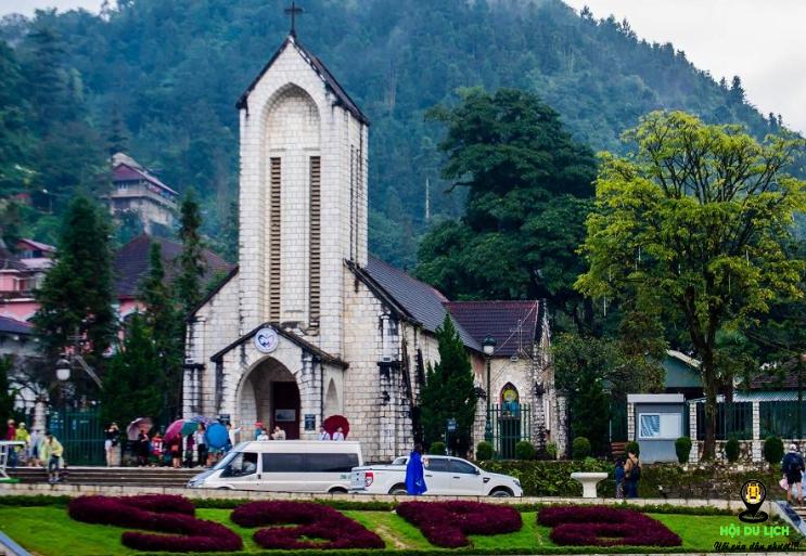 Nhà thờ đá Sapa đẹp kiến trúc ấn tượng (ảnh sưu tầm)