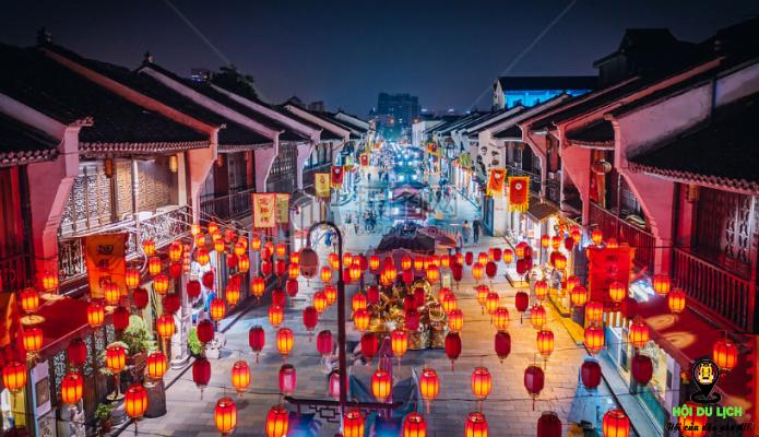 Phố cổ Qinghefang với nhiều đèn lồng đẹp lung linh về đêm (ảnh sưu tầm)