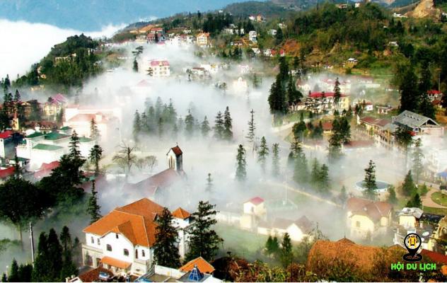 Sapa bồng bềnh trong sương sớm (ảnh sưu tầm )