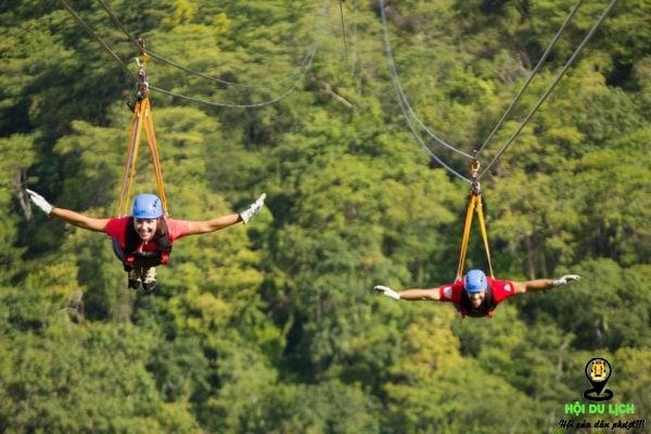 Zipline - trò chơi cảm giác mạnh thu hút giới trẻ
