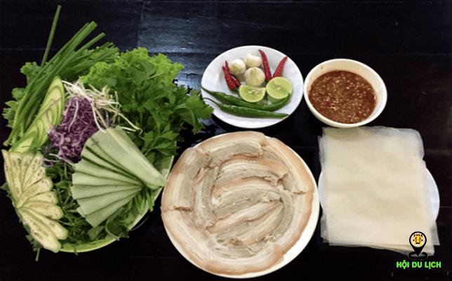 Bánh tráng cuốn thịt heo ở Đà Nẵng