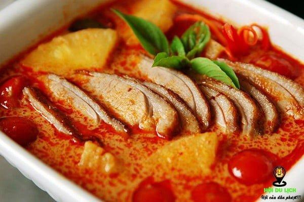 Cà ri đỏ - ẩm thực Thái Lan
