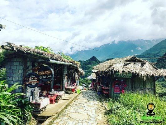 Tại bản Cát Cát Sapa có nhiều ngôi nhà truyền thống, xinh xắn.