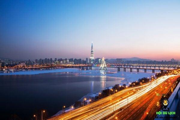Sông Hàn Seoul Hàn Quốc về đêm