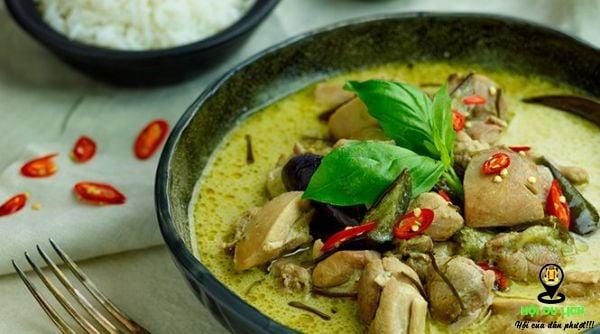 Cà ri xanh - ẩm thực Thái Lan