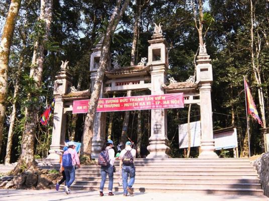 Đền thượng- nơi thờ đức thánh Tản Vên (ảnh sưu tầm)
