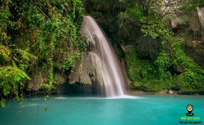 Tận hưởng vẻ đẹp tựa tiên cảnh của thác Kawasan Philippines