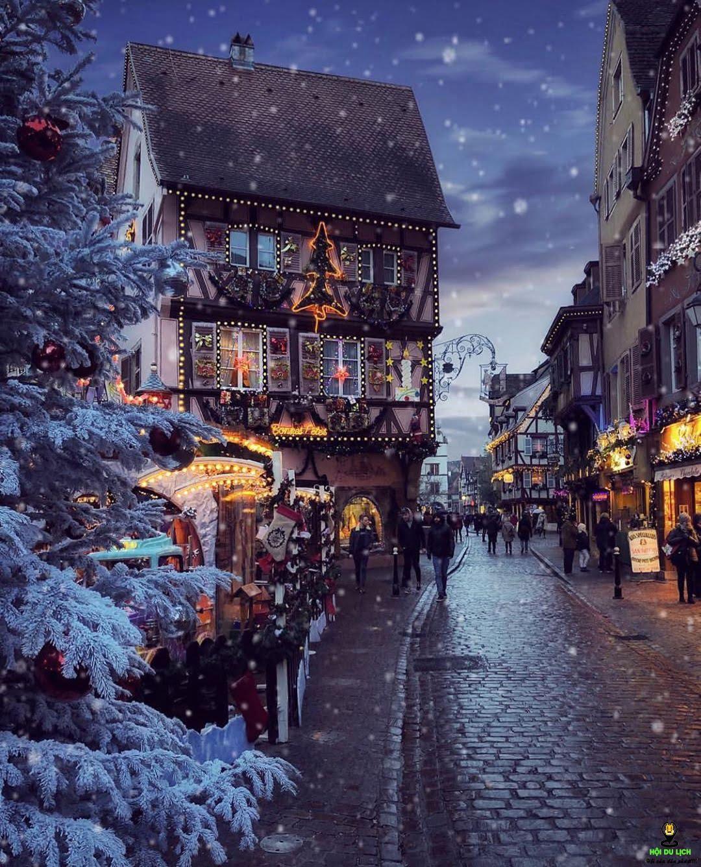 Vẻ đẹp ngôi làng Colmar - Pháp khi trời nhập đông