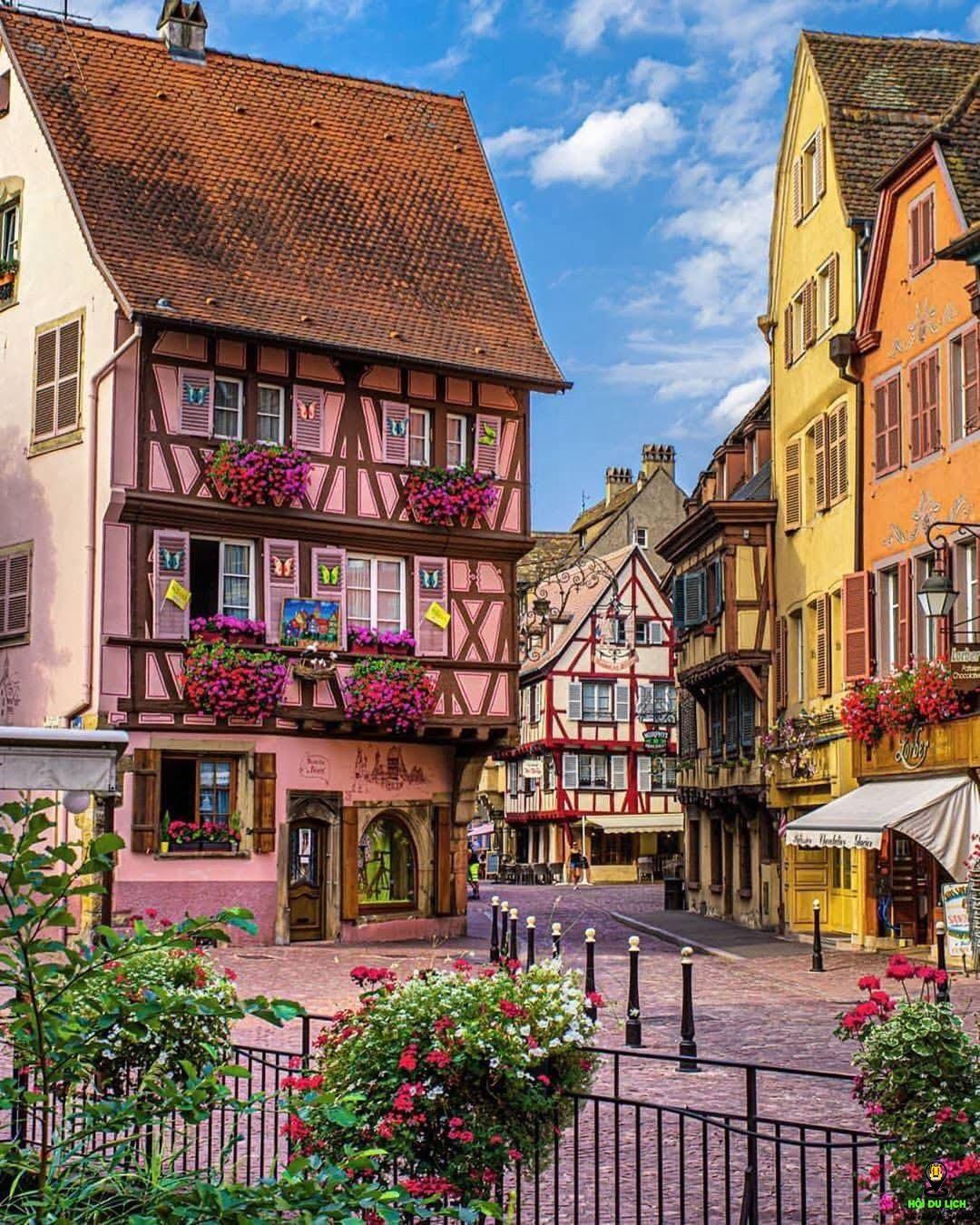 ngôi làng Colmar - Pháp