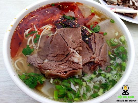 Mì thịt bò Lan Châu vô cùng ngon, hấp dẫn (ảnh sưu tầm)