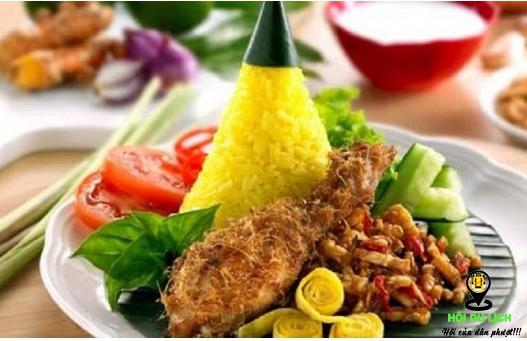 Món Nasi Kuning hấp dẫn ấn tượng