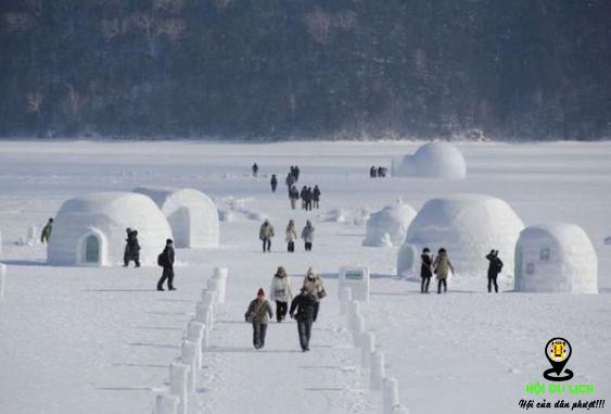 Ngôi làng làm từ băng tuyết ở Nhật (ảnh sưu tầm)