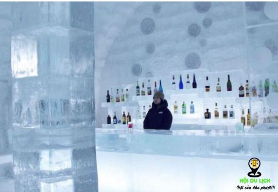 Quầy Bar độc đáo trong ngôi nhà bằng băng (ảnh sưu tầm)