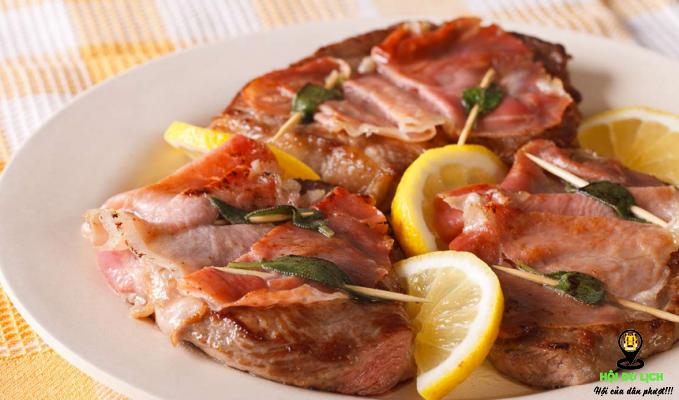 Món Saltimbocca được yêu thích ở Roma (ảnh sưu tầm)