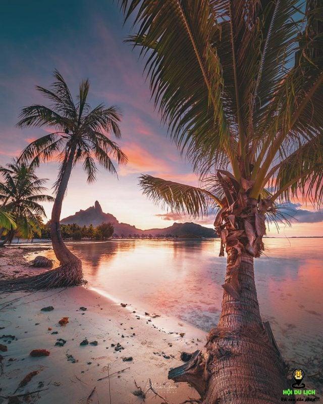 Hòn đảo Bora Bora. Ảnh sưu tầm
