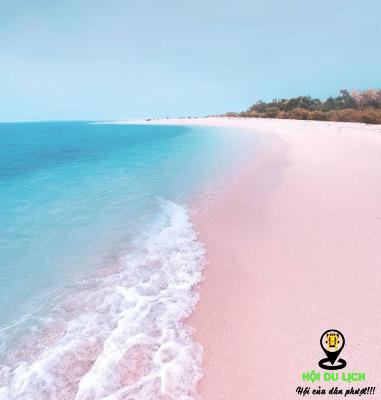 Bãi biển cát hồng thơ mộng nổi tiếng ở Balabac