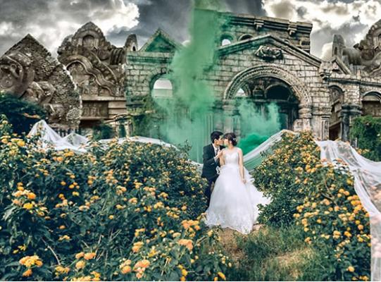 Thảo nguyên hoa Long Biên điểm chụp hình cưới cực đẹp (ảnh sưu tầm)