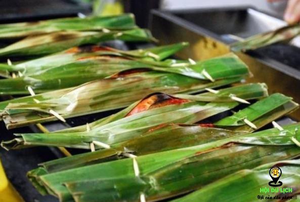 Món bánh cá bọc trong lá chuối (ảnh sưu tầm)