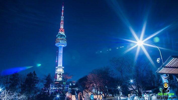 Tháp Namsan ở Seoul ( ảnh sưu tầm)