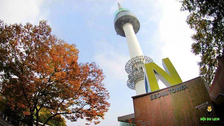 Tháp Namsan một trong những điểm đến đẹp nhất ở Seoul ( ảnh sưu tầm)