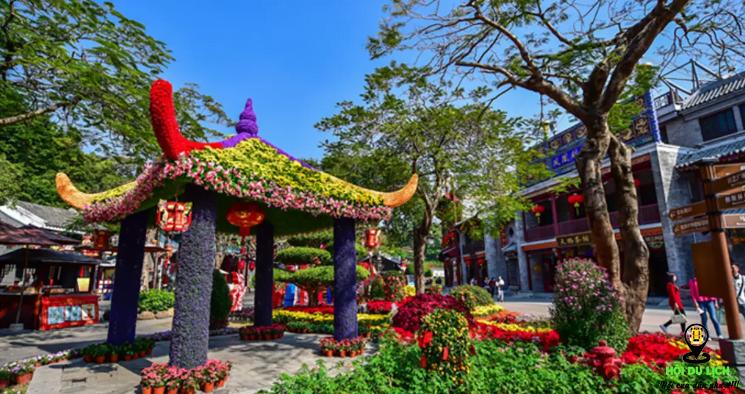 Văn hóa Trung Quốc được tái hiện thật ấn tượng ở công viên ( ảnh sưu tầm)