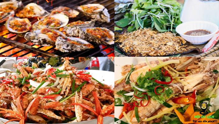 Các món hải sản ngon tại khu phố hải sản ở chợ Helio (ảnh sưu tầm)