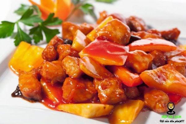 Thịt lợn chua ngọt hấp dẫn ở Thâm Quyến (ảnh sưu tầm)